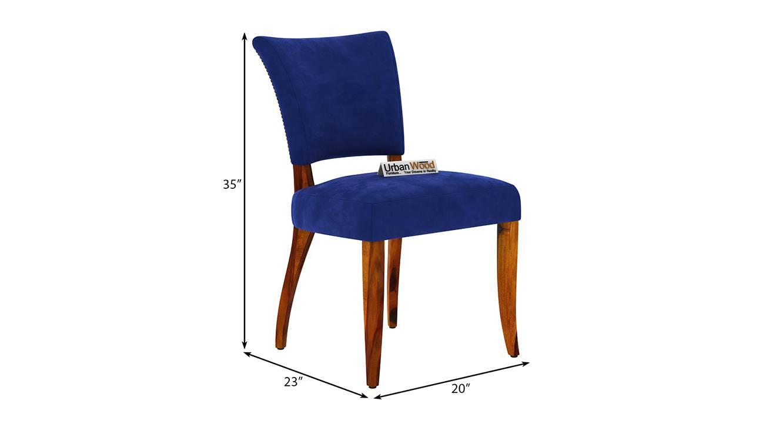 Fabian dining chair honey finish color matte finish 6