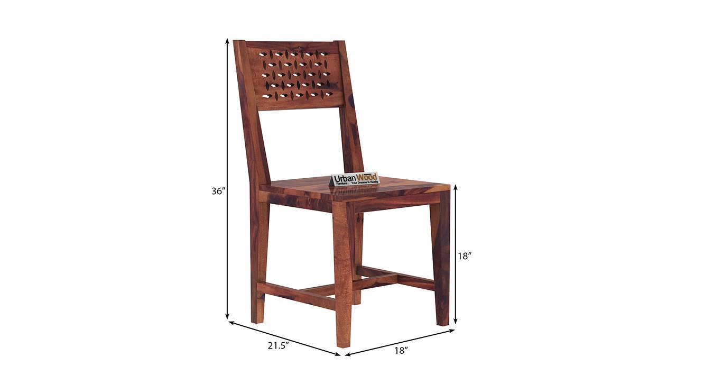 Damon dining chair teak finish color matte finish 6