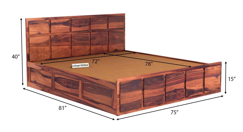 Gerbena storage bed teak finish color matte finish 6