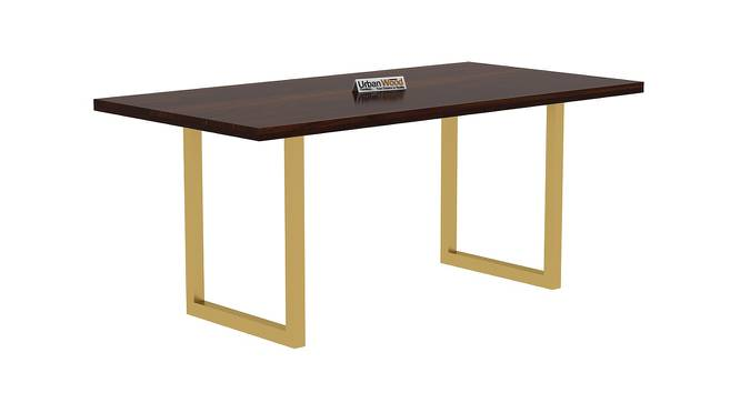 Gregory Dining Table (Walnut, Matte Finish) by Urban Ladder - Cross View Design 1 - 373214