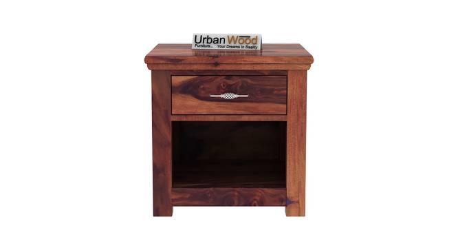 Isadora Bedside Table (Teak) by Urban Ladder - Front View Design 1 - 373222