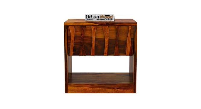 Harmonee Bedside Table (HONEY) by Urban Ladder - Front View Design 1 - 373224