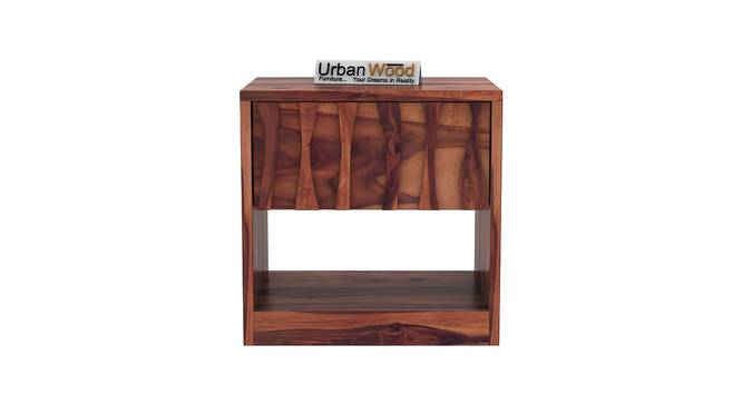 Harmonee Bedside Table (Teak) by Urban Ladder - Front View Design 1 - 373225