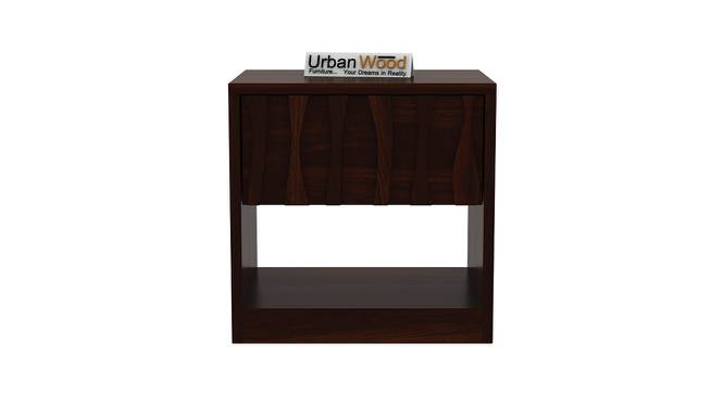 Harmonee Bedside Table (Walnut) by Urban Ladder - Front View Design 1 - 373226