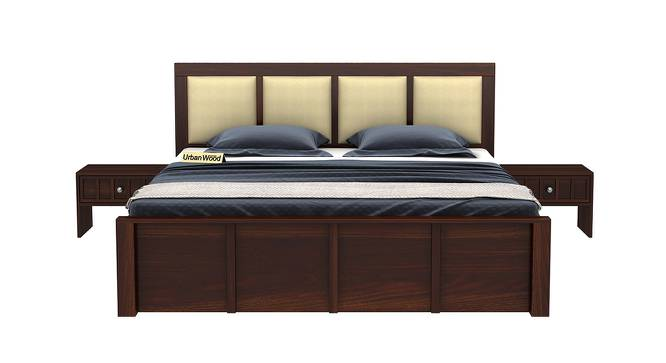 Harris Bed (King Bed Size, Walnut, Matte Finish) by Urban Ladder - Front View Design 1 - 373240