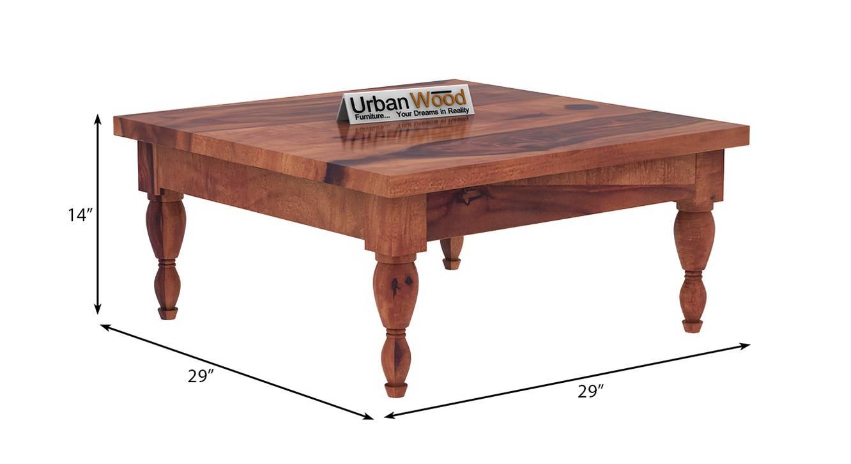Isabella coffee table teak finish color matte finish 6