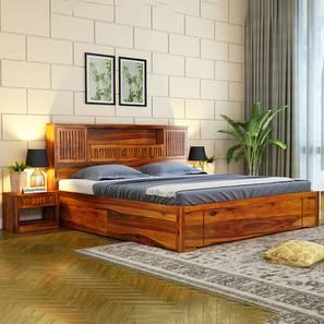 Klaus storage bed honey finish color matte finish lp