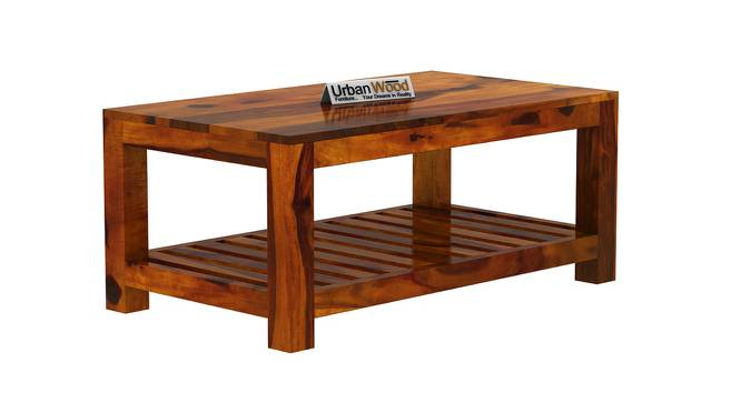 Lucy Coffee Table (HONEY, Matte Finish) by Urban Ladder - Cross View Design 1 - 373296