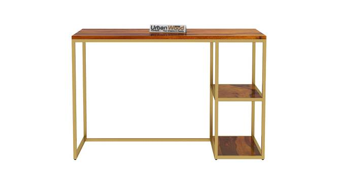 Marcus Study Table (HONEY, Matte Finish) by Urban Ladder - Front View Design 1 - 373318
