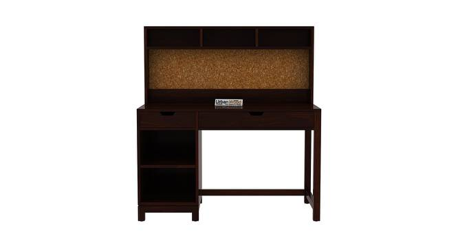 Kagiso Study Table (Walnut, Matte Finish) by Urban Ladder - Front View Design 1 - 373323
