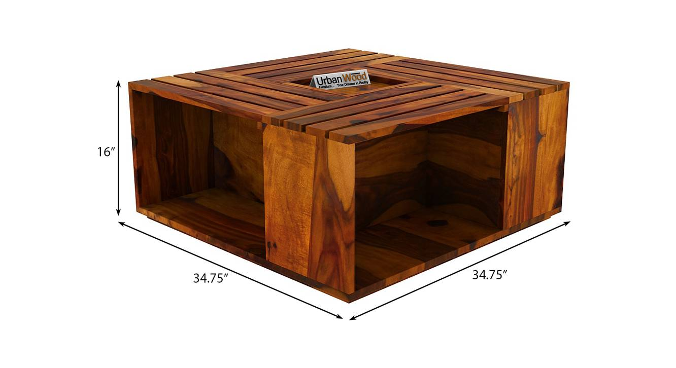 Mary coffee table honey finish color matte finish 6
