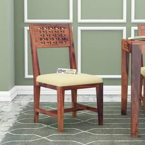 Perez dining chair teak finish color matte finish lp