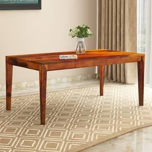 Peyton dining table honey finish color matte finish lp
