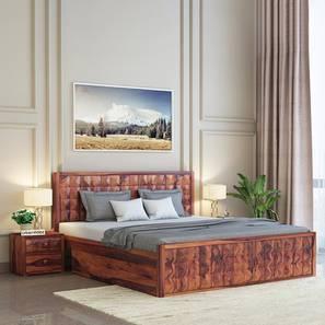 Morgana storage bed teak finish color matte finish lp