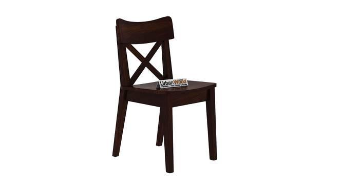 Pedro Dining Chair (Walnut, Matte Finish) by Urban Ladder - Cross View Design 1 - 373379