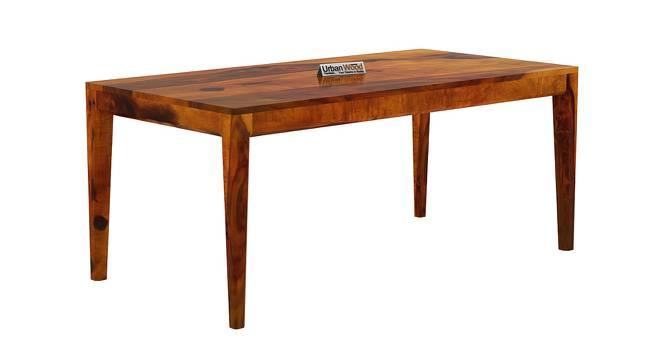 Peyton Dining Table (HONEY, Matte Finish) by Urban Ladder - Cross View Design 1 - 373386
