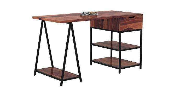 Sloan Black Study Table (Teak, Matte Finish) by Urban Ladder - Cross View Design 1 - 373390