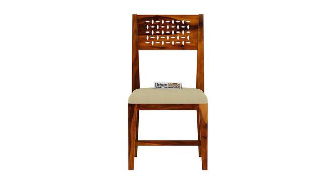 Perez Dining Chair (HONEY, Matte Finish) by Urban Ladder - Front View Design 1 - 373402