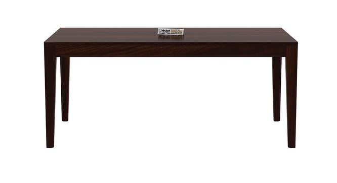 Peyton Dining Table (Walnut, Matte Finish) by Urban Ladder - Front View Design 1 - 373407
