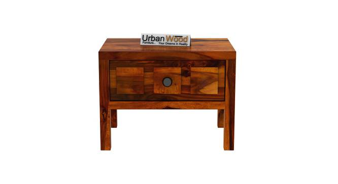 Winslow Bedside Table (HONEY) by Urban Ladder - Front View Design 1 - 373483