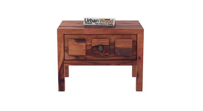 Winslow Bedside Table (Teak) by Urban Ladder - Front View Design 1 - 373484