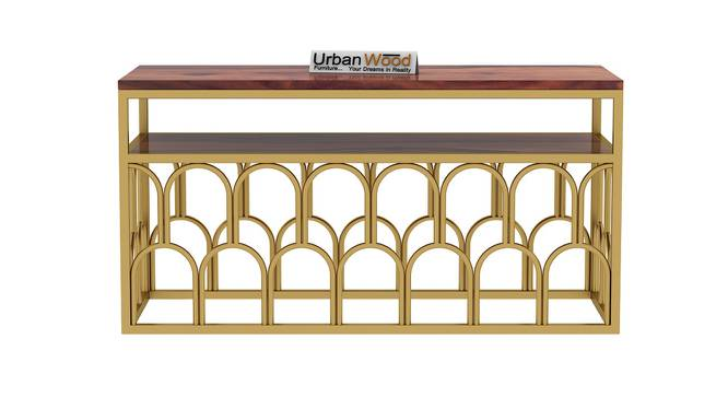 Trove TV Unit (Teak, Matte Finish) by Urban Ladder - Front View Design 1 - 373492