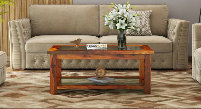 Delia Coffee Table (HONEY, Matte Finish) by Urban Ladder - Cross View Design 1 - 373535