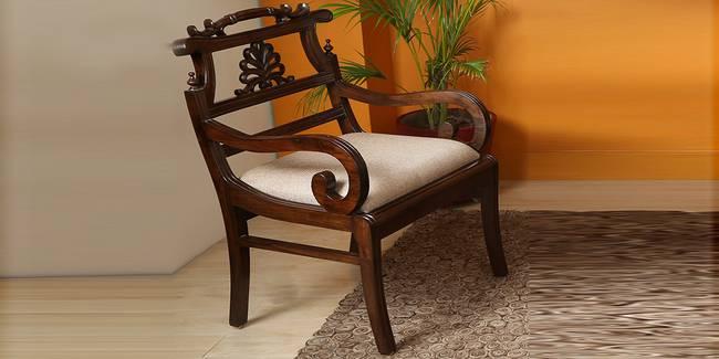Pallavi Wooden Sofa - Walnut (1-seater Custom Set - Sofas, None Standard Set - Sofas, Regular Sofa Size, Regular Sofa Type, Walnut, Solid_Wood Sofa Material)