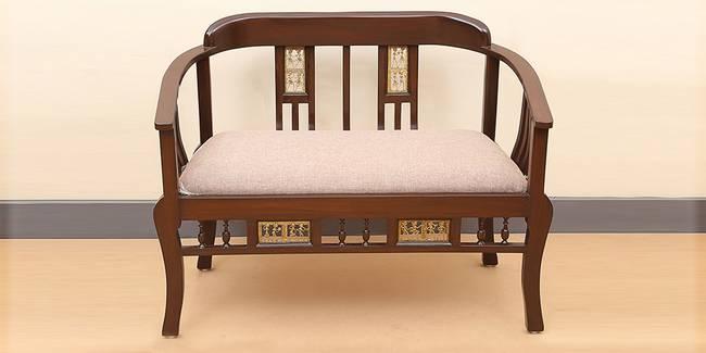 Parul Wooden Sofa - Walnut (2-seater Custom Set - Sofas, None Standard Set - Sofas, Regular Sofa Size, Regular Sofa Type, Walnut, Solid_Wood Sofa Material)