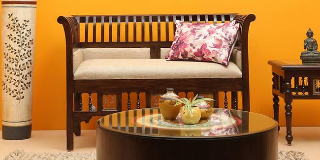 Pavani Wooden Sofa - Walnut (2-seater Custom Set - Sofas, None Standard Set - Sofas, Regular Sofa Size, Regular Sofa Type, Walnut, Solid_Wood Sofa Material)