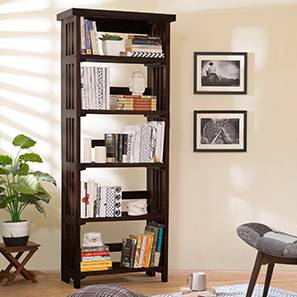 Rhodes Folding Book Shelf (Mahogany Finish, Tall Configuration, 60 Book Book Capacity) by Urban Ladder - - 374