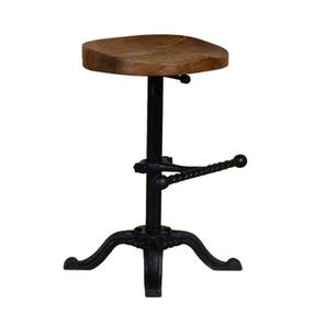 Leclerc Stool (Natural & Copper Finish, Natural & Copper) by Urban Ladder - Cross View Design 1 - 374348