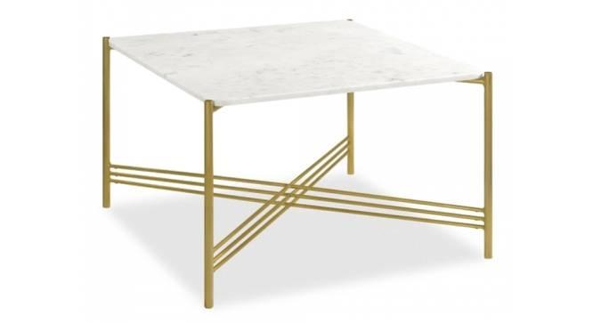 Irene Coffee Table (Brass White, White & Brass Inlay Finish) by Urban Ladder - Cross View Design 1 - 374335