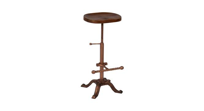 Barnet Stool (Natural & Copper Finish, Natural & Copper) by Urban Ladder - Cross View Design 1 - 374347