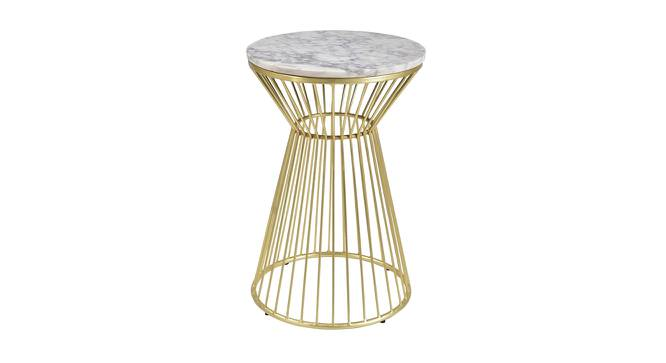 Lachlan End Table (Brass White, White & Brass Finish) by Urban Ladder - Cross View Design 1 - 374353