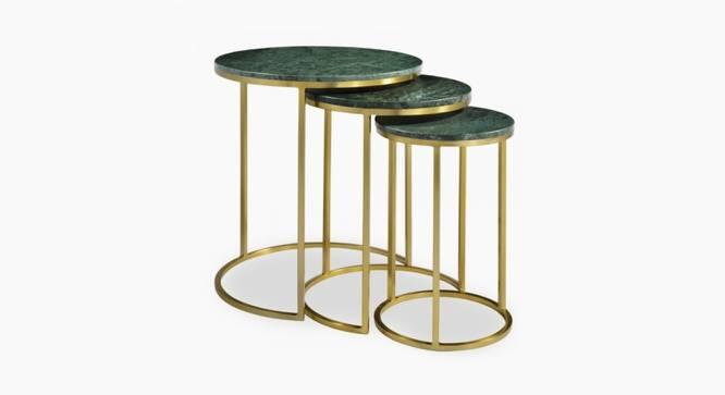Leven Nesting Table (Green & Brass Finish, Green & Brass) by Urban Ladder - Cross View Design 1 - 374357