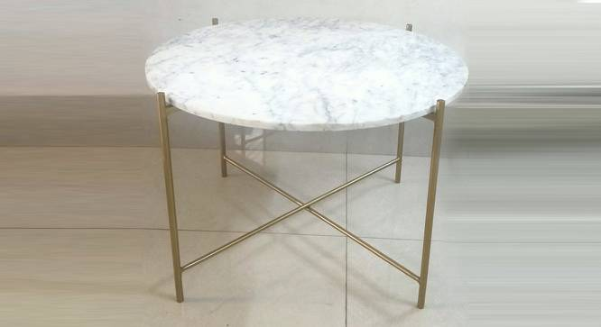 Gabriela Coffee Table (Brass White, White & Brass Finish) by Urban Ladder - Front View Design 1 - 374358