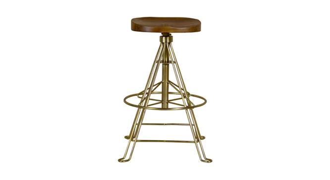 Kimblyn Bar Stool (Natural Brass, Natural & Brass Finish) by Urban Ladder - Front View Design 1 - 374372