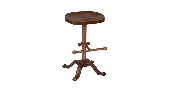 Barnet Stool (Natural & Copper Finish, Natural & Copper) by Urban Ladder - Front View Design 1 - 374373