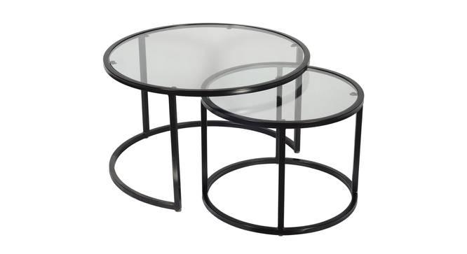 Nelia Nesting Coffee Table Set of 2 (Black, Black Finish) by Urban Ladder - Cross View Design 1 - 374438