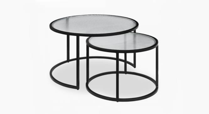 Lynton Nesting Coffee Table Set of 2 (Black, Black Finish) by Urban Ladder - Cross View Design 1 - 374439