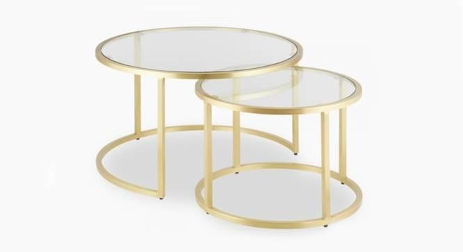 Rita Nesting Coffee Table Set of 2 (Brass, Brass Finish) by Urban Ladder - Cross View Design 1 - 374440