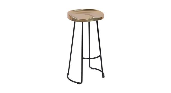 Sherman Bar Stool (Black & Brass, Black & Brass Finish) by Urban Ladder - Cross View Design 1 - 374447