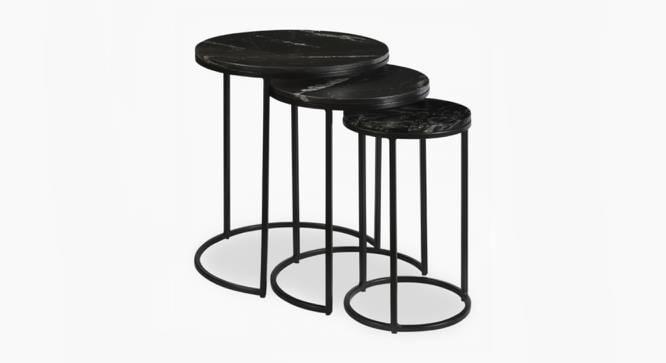 Livingston Nesting Table (Black, Black Finish) by Urban Ladder - Cross View Design 1 - 374449