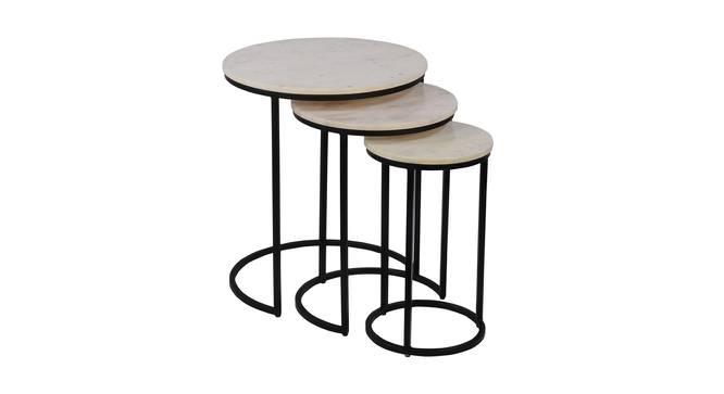 Lochellen Nesting Table (Black & White, Black & White Finish) by Urban Ladder - Cross View Design 1 - 374450