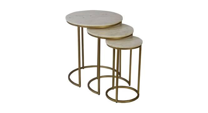 Lorna Nesting Table (Black & White, Black & White Finish) by Urban Ladder - Cross View Design 1 - 374452