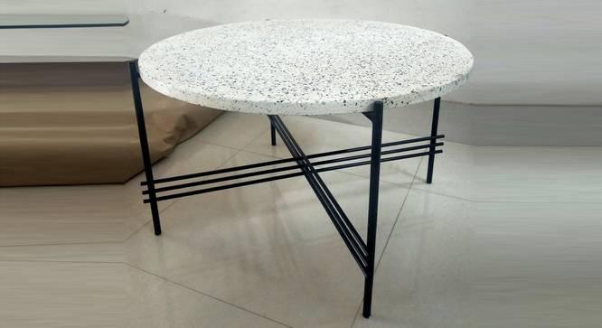 Marie Coffee Table (Terrazzo & Black, Terrazzo & Black Finish) by Urban Ladder - Front View Design 1 - 374462