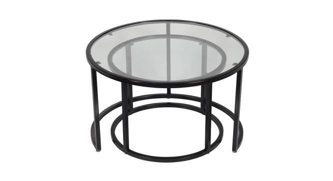 Nelia Nesting Coffee Table Set of 2 (Black, Black Finish) by Urban Ladder - Front View Design 1 - 374465