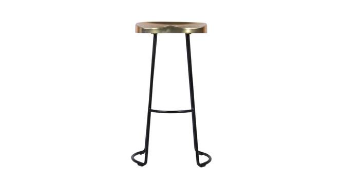 Sherman Bar Stool (Black & Brass, Black & Brass Finish) by Urban Ladder - Front View Design 1 - 374474
