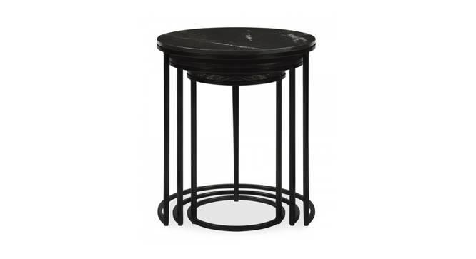 Livingston Nesting Table (Black, Black Finish) by Urban Ladder - Front View Design 1 - 374476